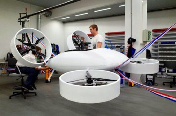 The Bartini prototype EVTOL at National University of Science and Technology's High Complexity Prototyping Center in Moscow (Image: Bartini)