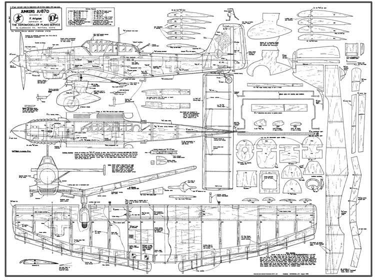 100 Cub Wiring Diagram Ju87 Stuka Plans Aerofred Download Free Model Airplane