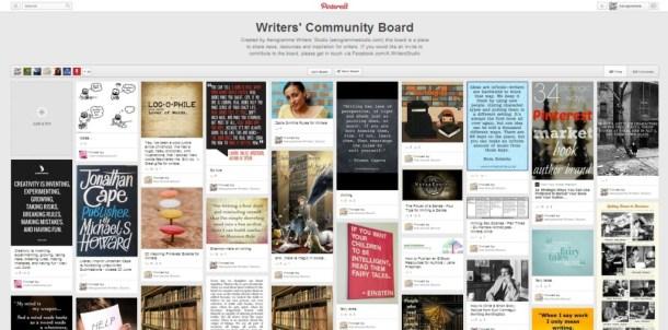 Pinterest Writers Community Board
