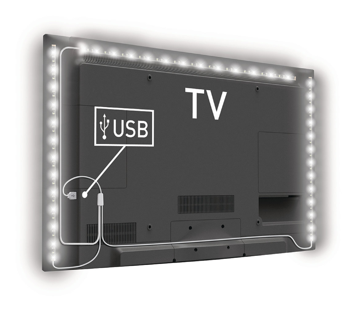 Eclairage Led Pour Tv Bande Led Lumineuse Pour Tv Led 192 Lm 1800 Mm Blanc Froid