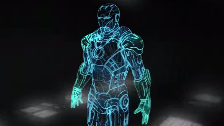 3d Holograms Wallpaper Iron Man Vr Display Aerys