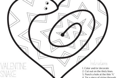 Valentine Snake art project