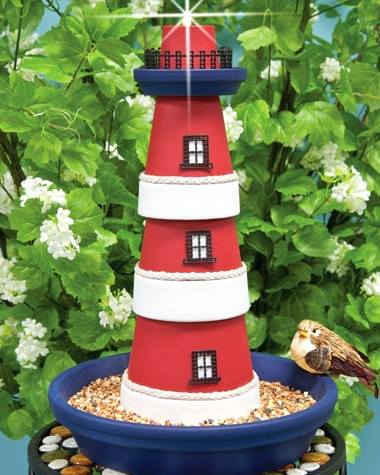 Red, White & Blue Lighthouse Craft Project