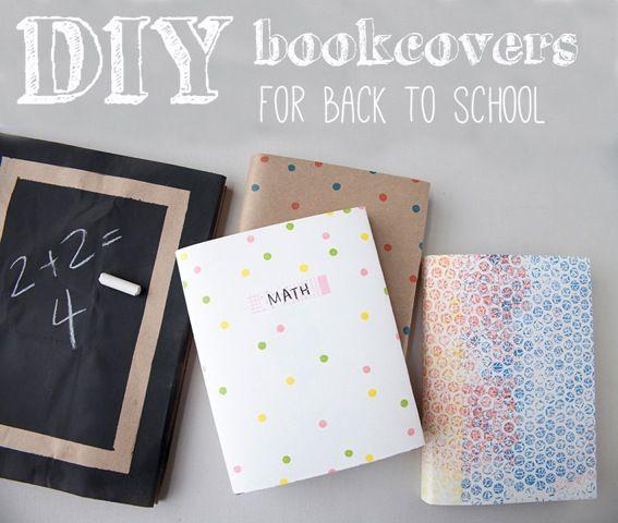 DIY Textbook Covers Found on creativebug.com