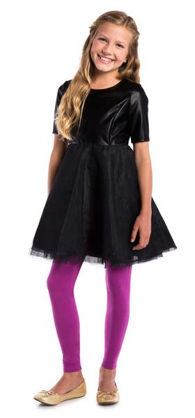 FabKids Faux Leather Tutu Dress