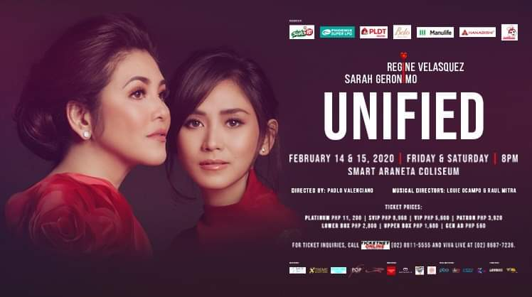 "Regine Velasquez.和Sarah Geronimo:""UNIFIED"""