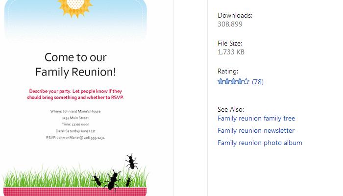 free family reunion templates - family reunion letter templates