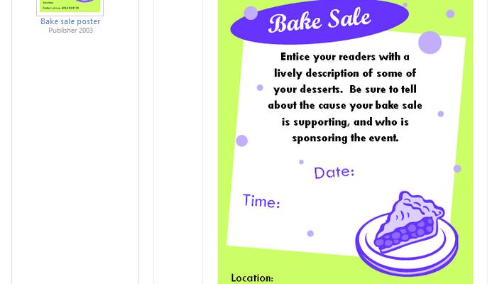 bake sale flyer template microsoft
