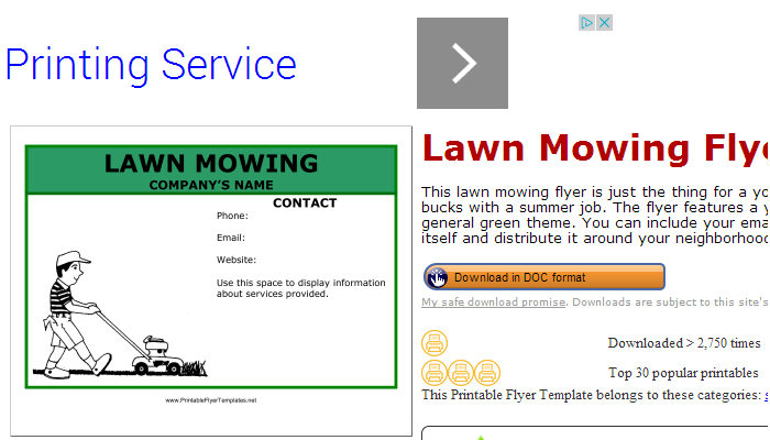 5 Lawn Mowing Flyer Templates AF Templates - free printable flyer templates