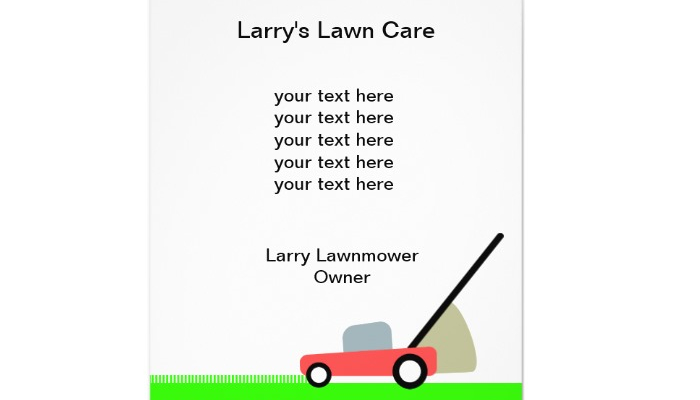 4 Lawn Care Flyers Templates AF Templates - Flyer Outline