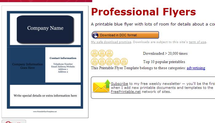 3 Pressure Washing Flyer Templates AF Templates - free printable flyer templates