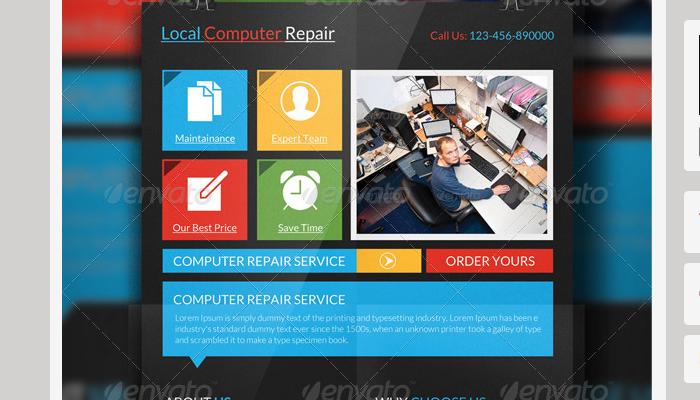4 Computer Repair Flyer Templates AF Templates - computer repair flyer template