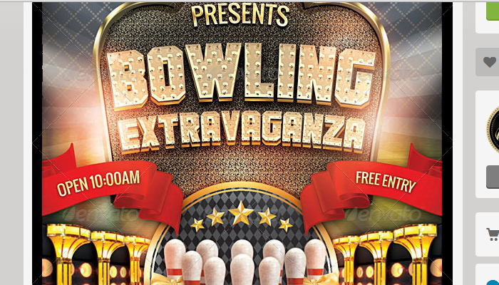 4 Bowling Fundraiser Flyer Templates AF Templates