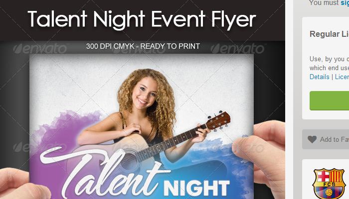 5 Talent Show Flyer Templates AF Templates - talent show flyer