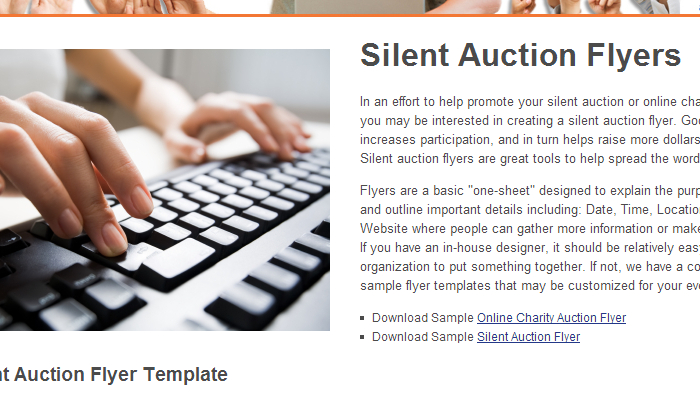 5 Silent Auction Flyer Templates AF Templates