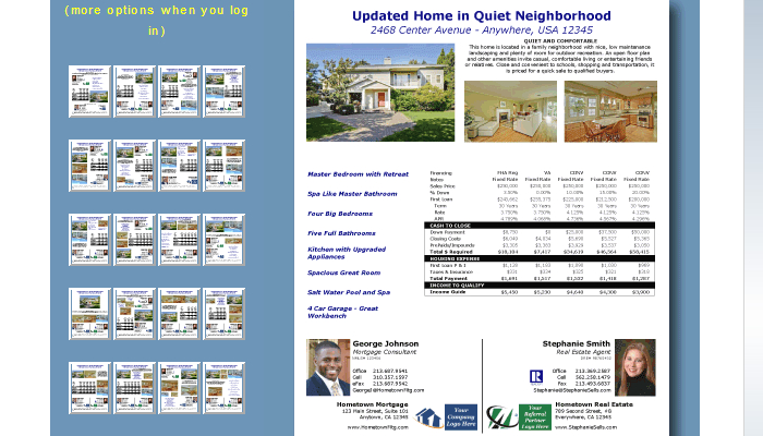 4 Mortgage Flyers Templates AF Templates - mortgage templates