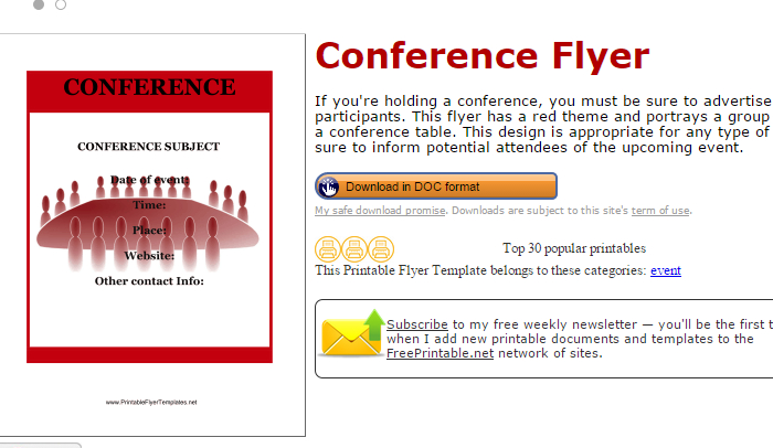 5 Conference Flyer Templates AF Templates - conference flyers templates free