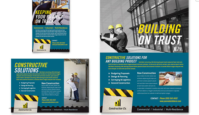 6 Construction Flyer Templates AF Templates - powerpoint flyer template