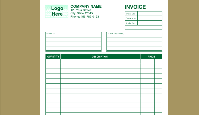 6 Indesign Invoice Template AF Templates