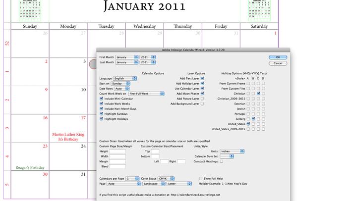 5 Adobe Indesign Calendar Template AF Templates