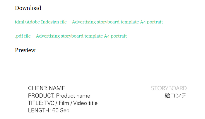 5 Indesign Storyboard Template AF Templates - video storyboard template