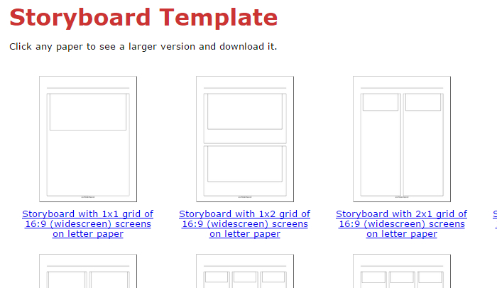 5 Indesign Storyboard Template AF Templates - interactive storyboards