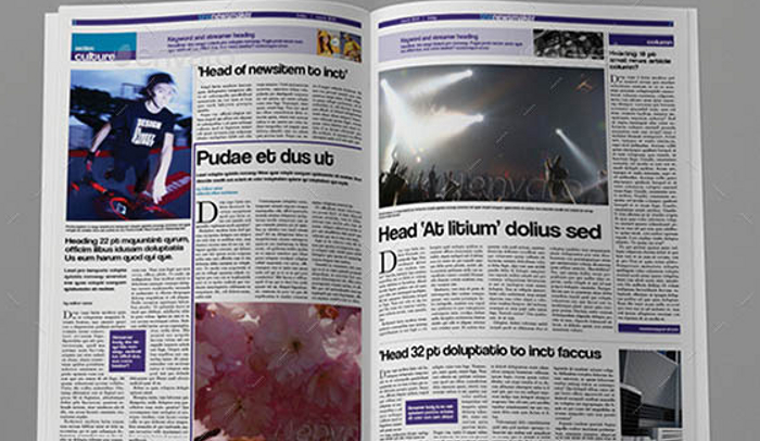 6 Free Indesign Newspaper Templates AF Templates - news paper template