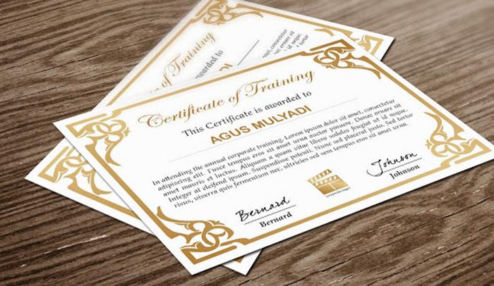 5 Indesign Certificate Template AF Templates