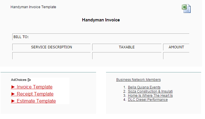 5 Handyman Invoice Template AF Templates - Handyman Invoice Template