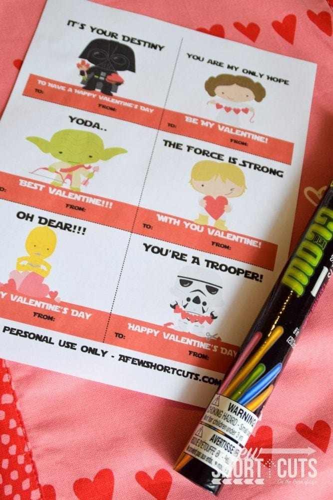 FREE Printable Star Wars Valentines Cards - A Few Shortcuts
