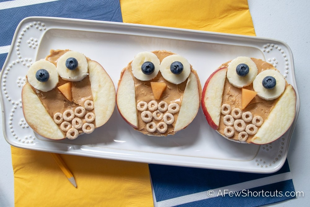 Owl Rice Cake Snacks Lunchbox Fun A Few Shortcuts