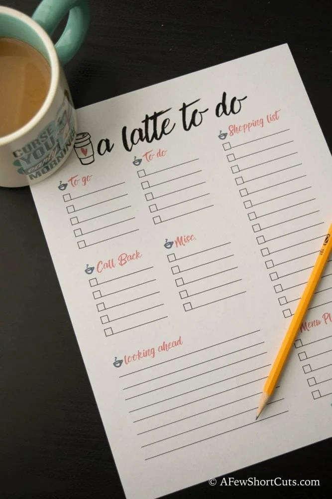 7 Things You Can Do While Drinking Your Coffee  Free Printable - A