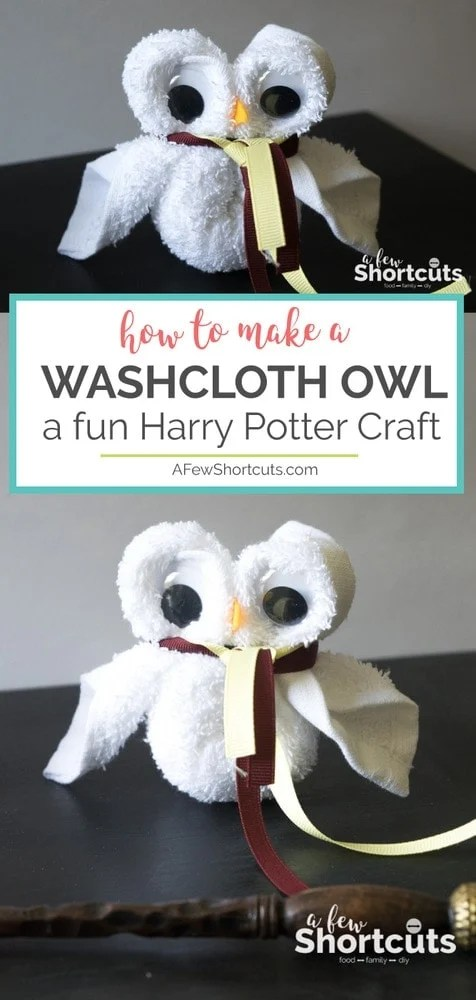 How to Make a Washcloth Owl - Fun Harry Potter Craft - A Few Shortcuts