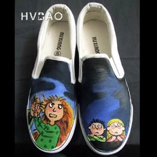 UFO Stories Canvas Slip-Ons