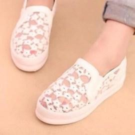 Lace Platform Slip-Ons