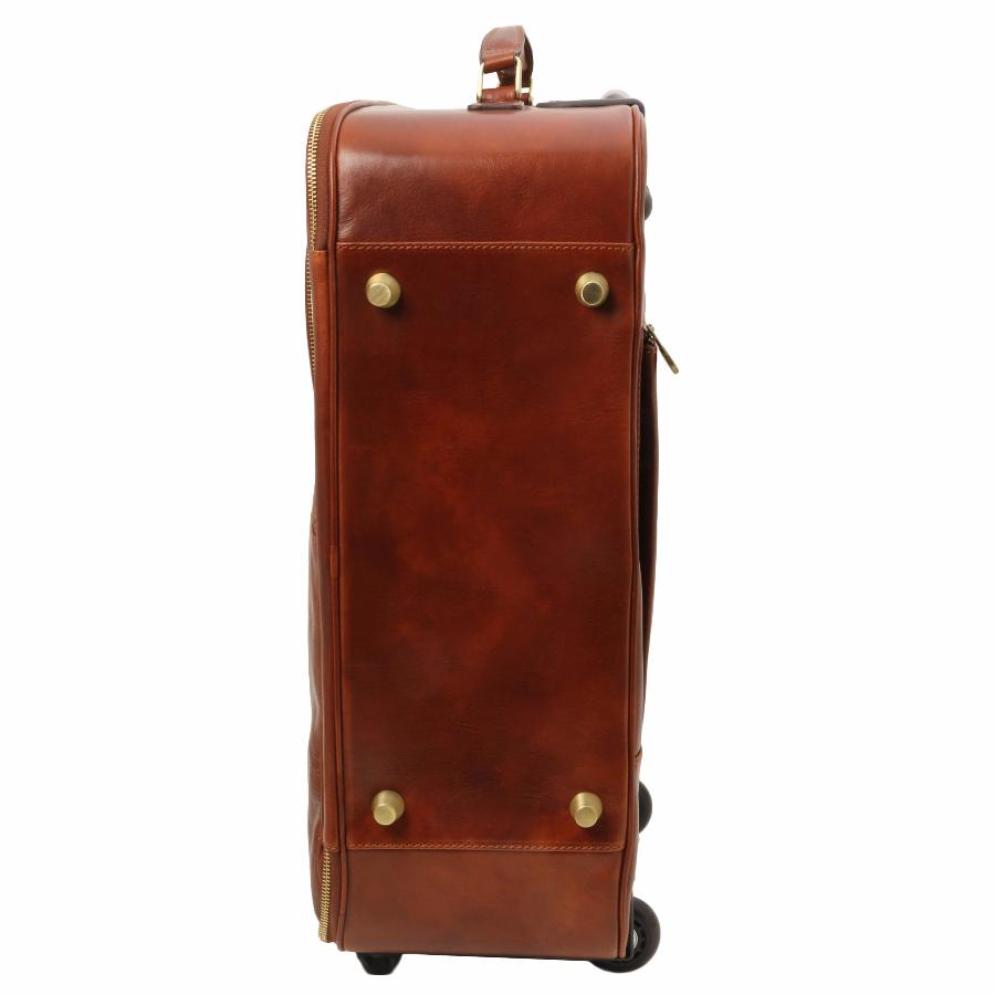 Sac De Voyage Trolley Valise Trolley Cuir Cabine Avion - Tuscany Leather