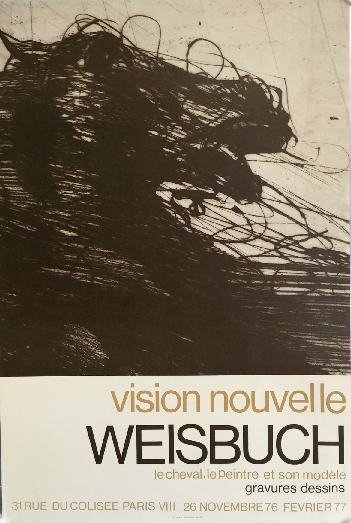 Affiche Cheval Vision Nouvelle Weisbuch
