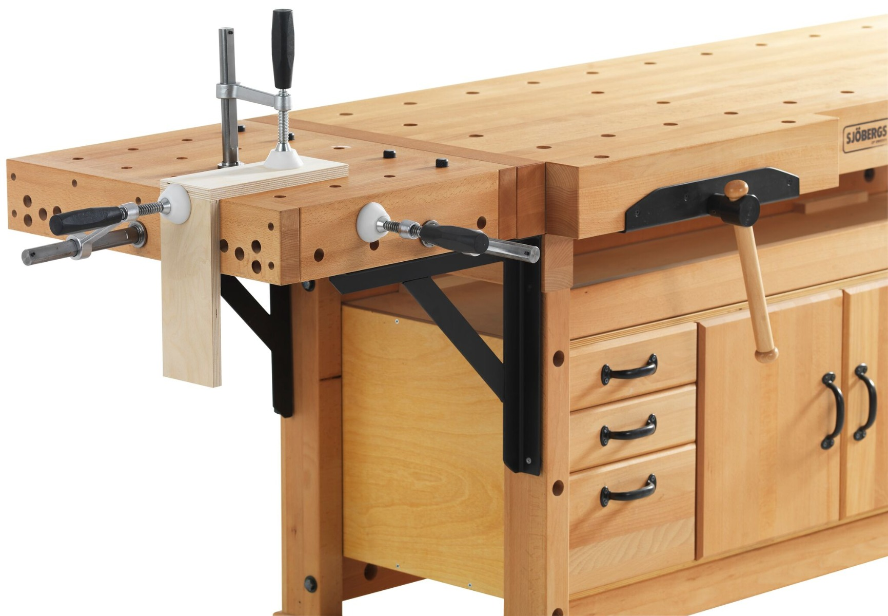 Maximum Heavy Duty Workbench Sjobergs Elite 2500c Combines Workbench Clamping Platform To