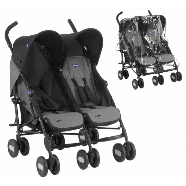 Hauck Stroller Accessories Chicco Echo Twin Double Pushchair From Birth Inc Raincover