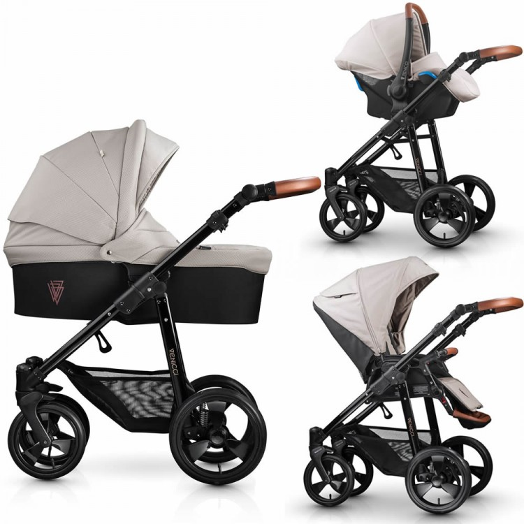Affordable Baby Travel System Venicci Gusto Cream Pushchair Carrycot Car Seat
