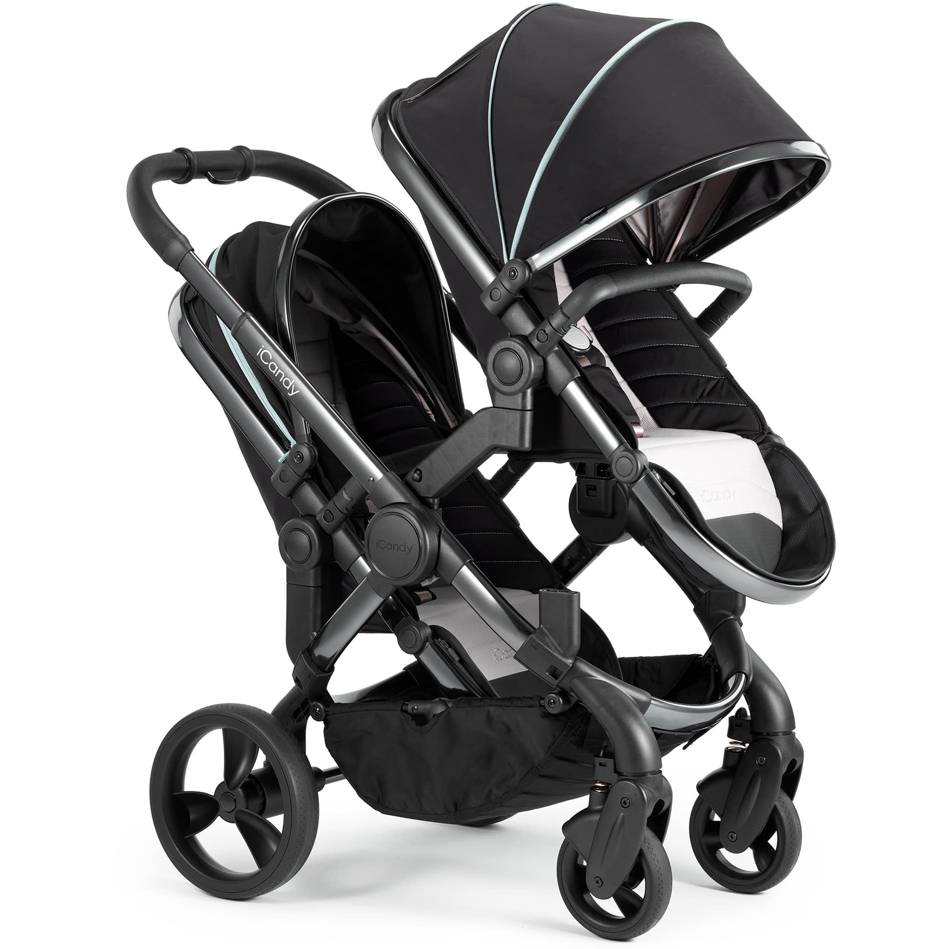 Egg Stroller For Twins Icandy Peach Blossom Double Pushchair Beluga With Phantom Chassis