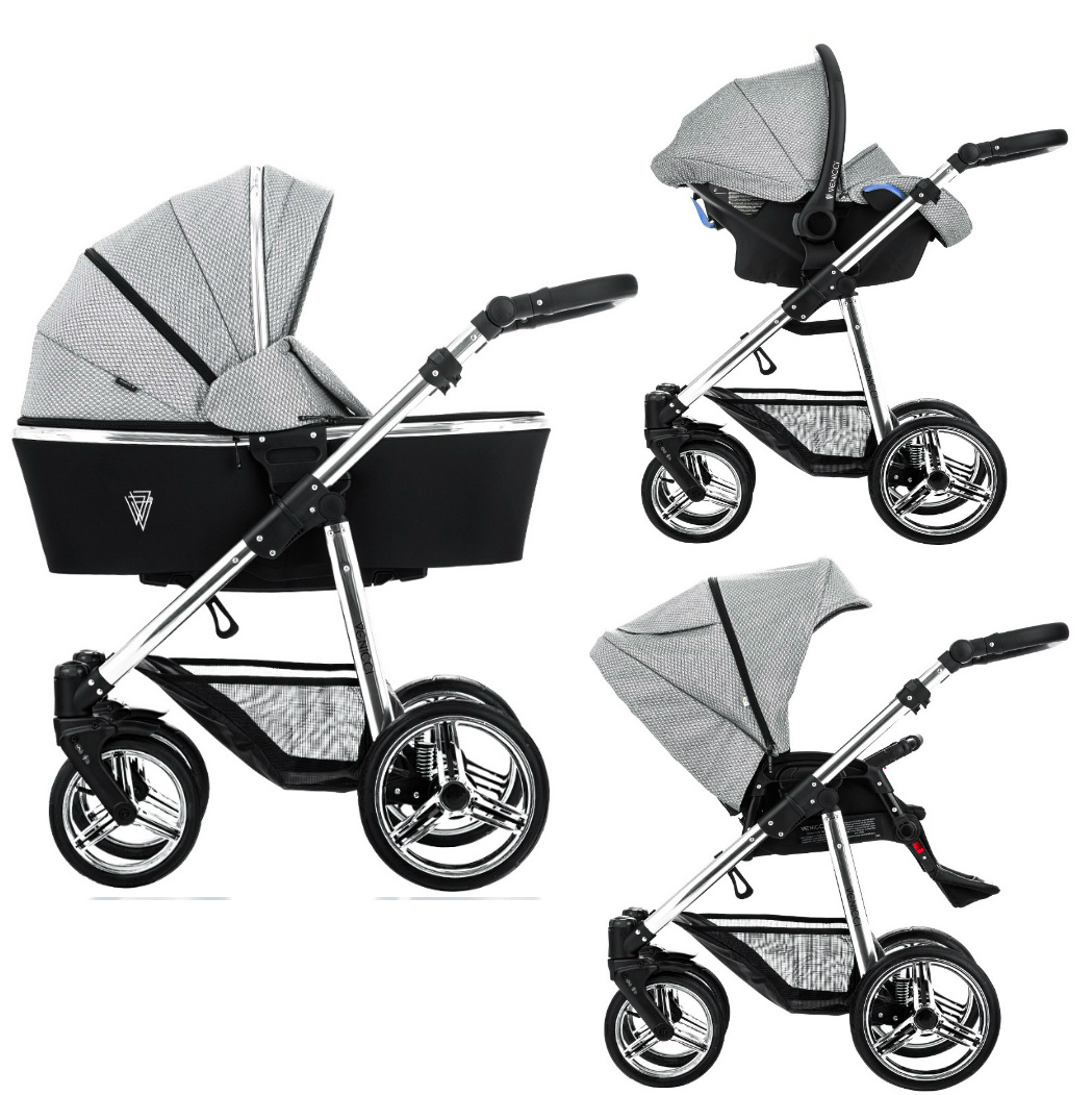 Pram Extra Seat Venicci Sparkle Pram Grey Diamond Special Edition 3 In 1 Package