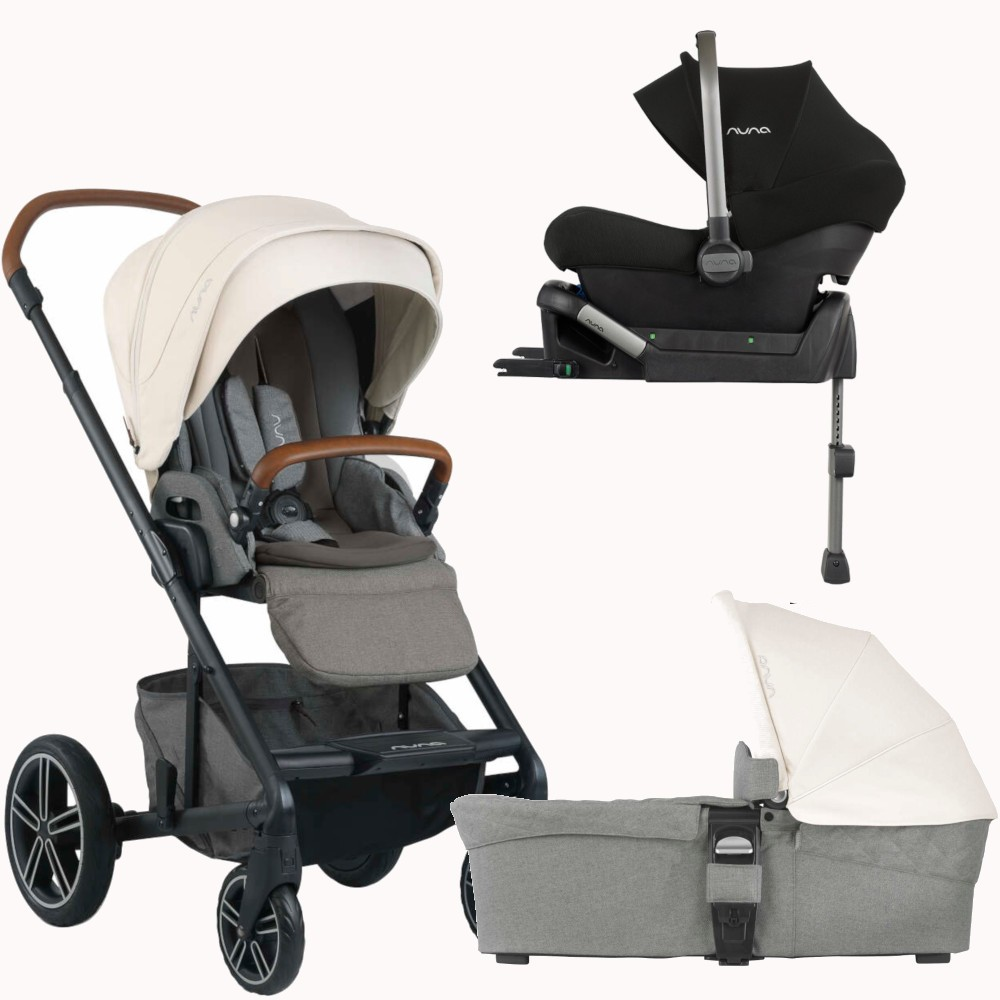 Poussette Buggy Nuna Nuna Mixx Pipa Lite 3in1 Travel System Package Birch