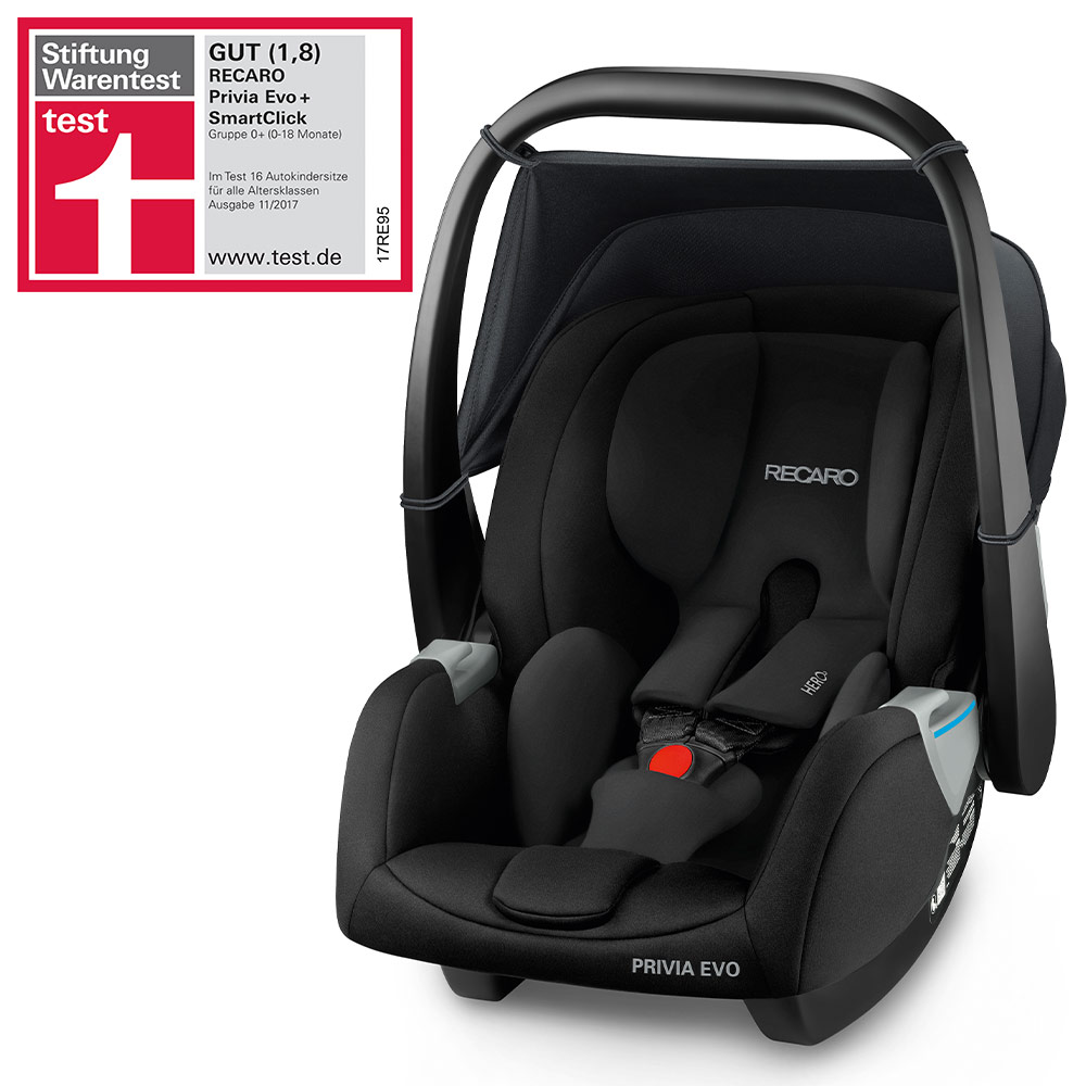 Graco Babyschale Adapter Recaro Privia Evo Baby Car Seat Black With Isofix Base Birth To 15 Months