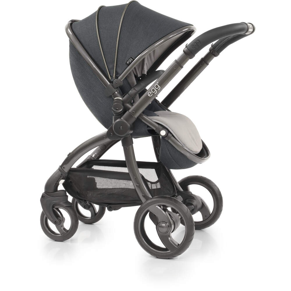Egg Stroller Cool Mist Egg Carbon Grey Pushchair Carrycot Fleece Seat Liner