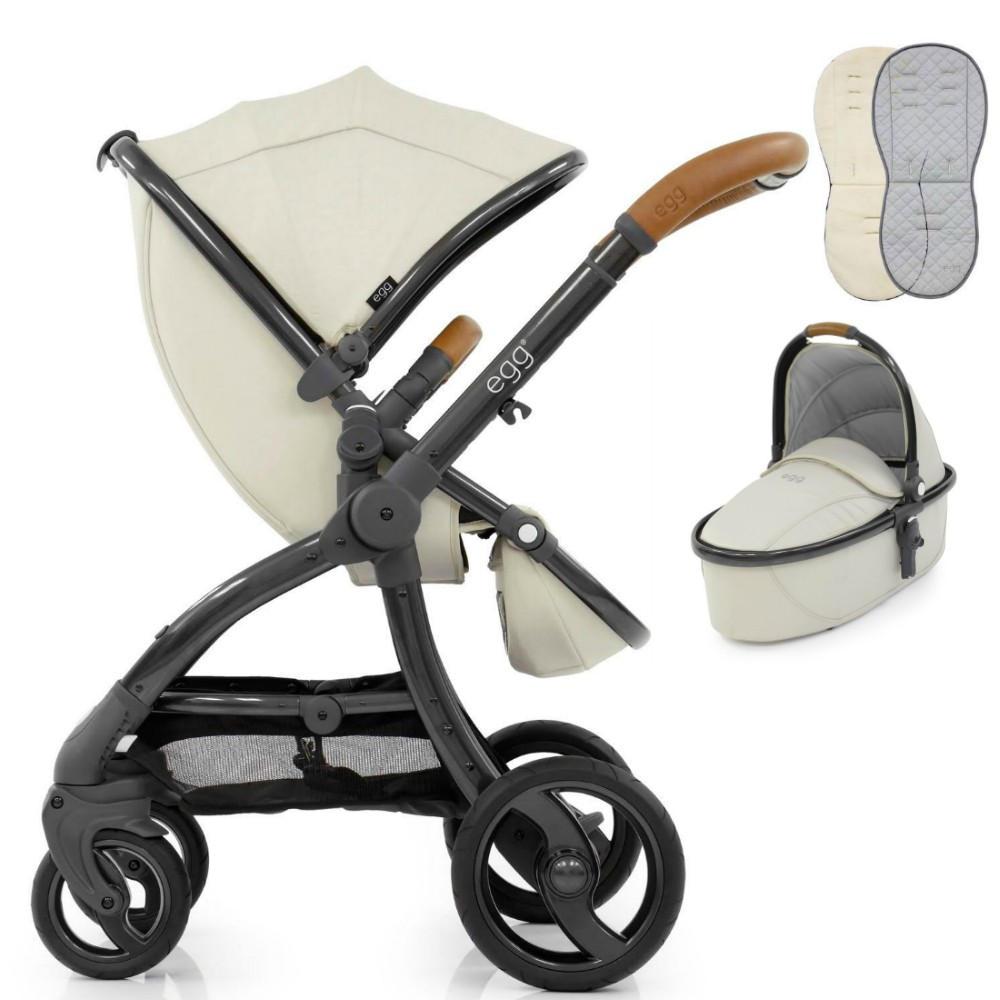 Egg Stroller Cool Mist Egg Jurassic Cream Pushchair Carrycot Fleece Seat Liner Raincovers