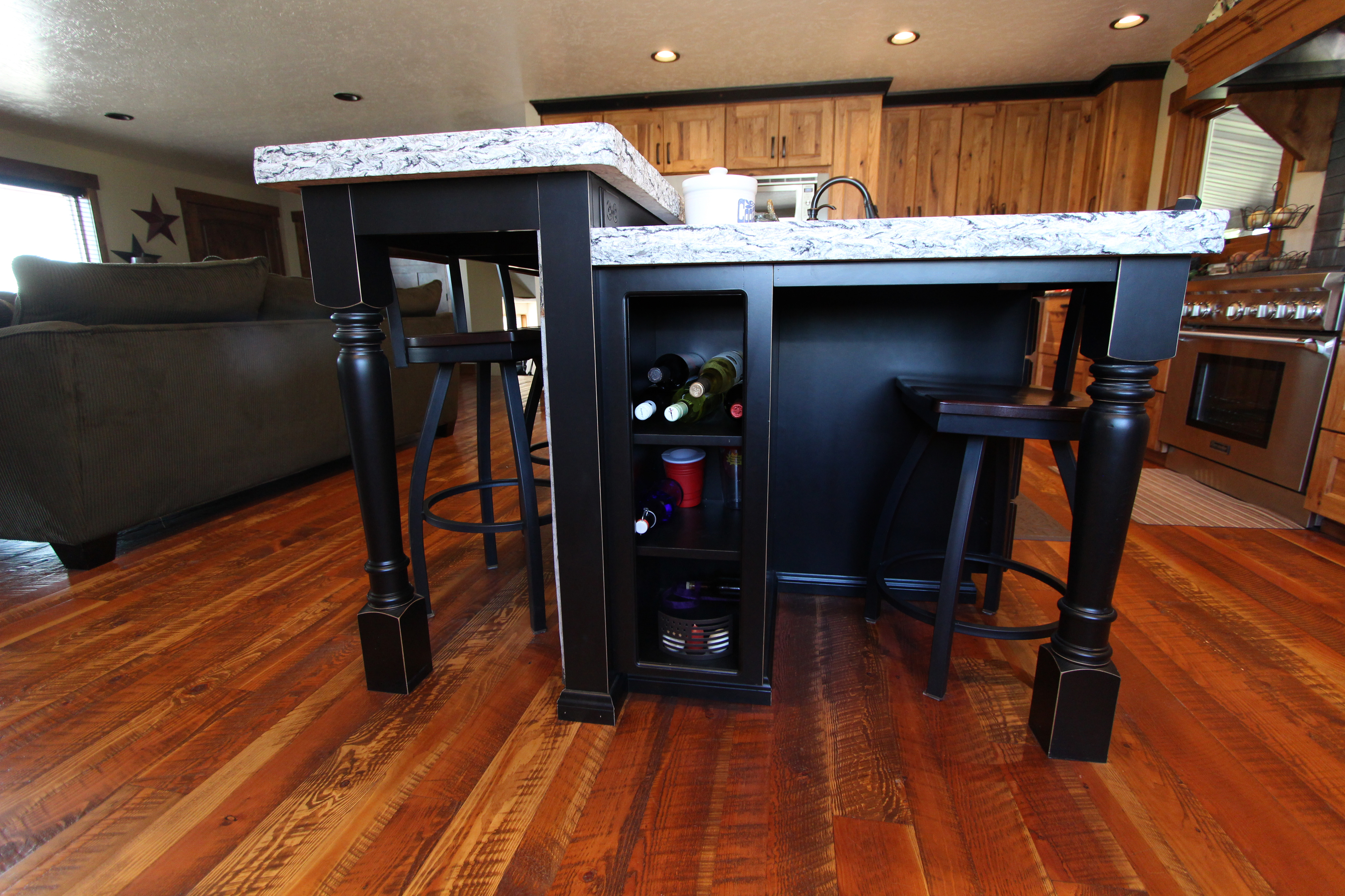 Rustic Style Bar Affordable Custom Cabinets Showroom