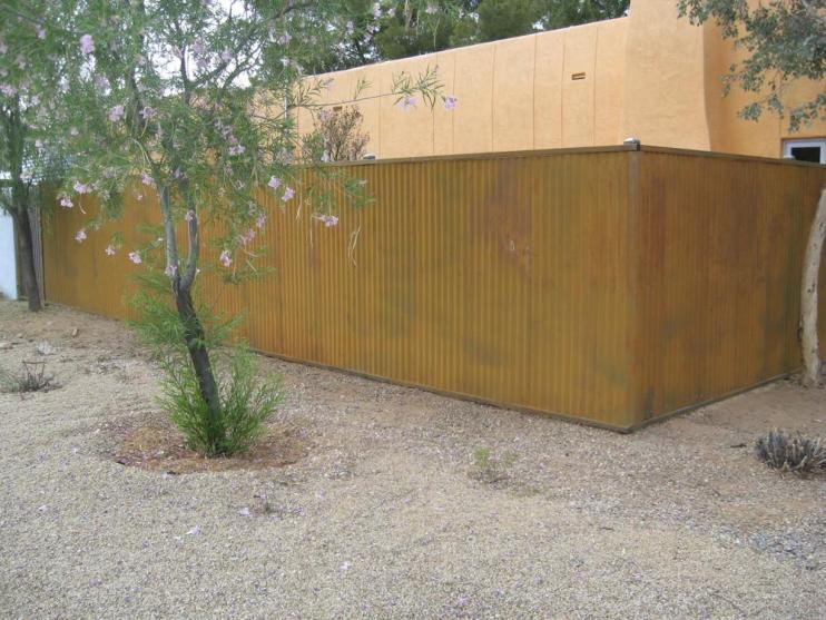 CF209 Natural Rust Corrugated Steel