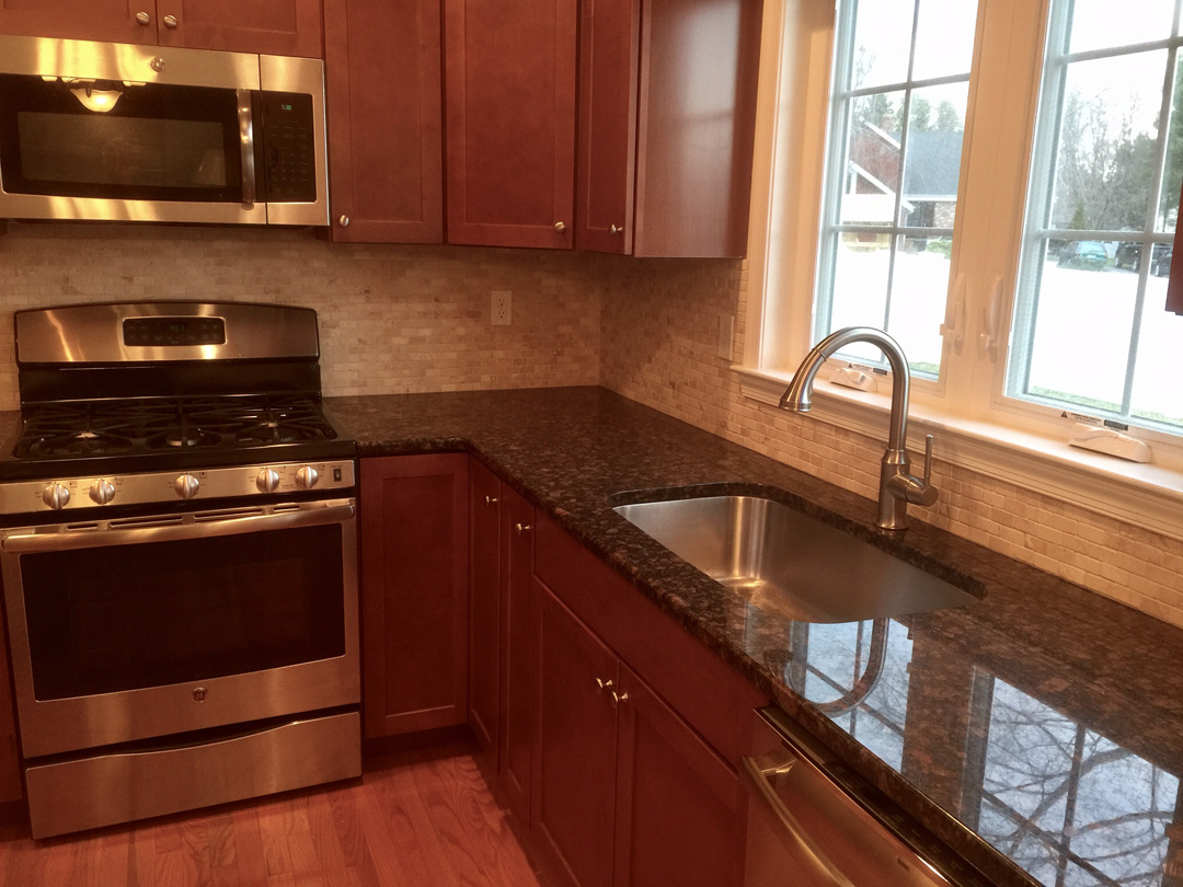 Discount Granite Countertops Nj Tan Brown Granite Counter Top With A Broken Seam And