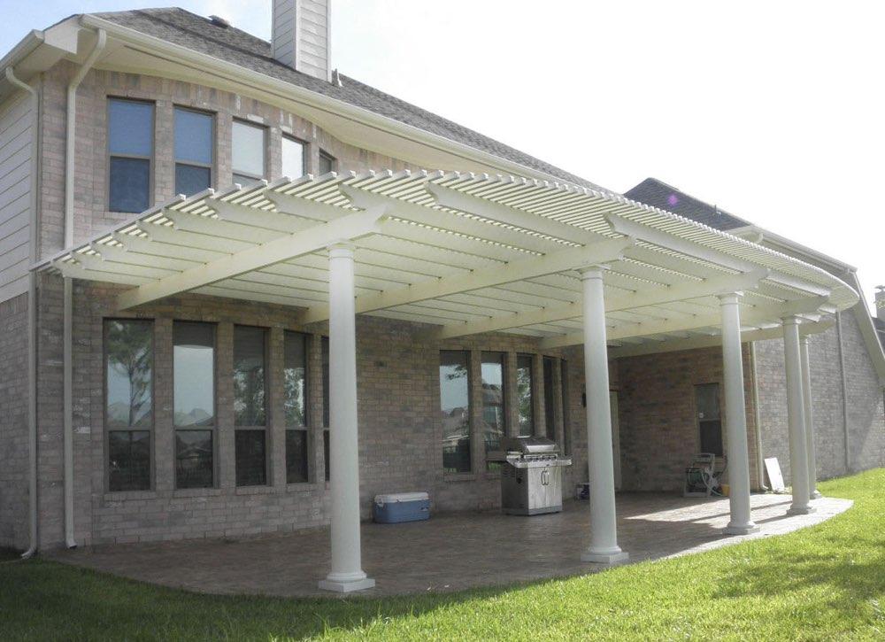 Aluminum Pergola With Decorative Concrete